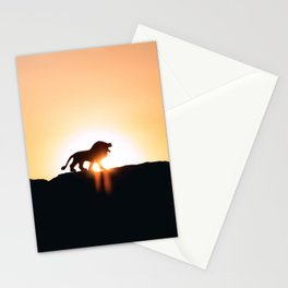 Lion Sunset Silhouette (Color) Stationery Cards