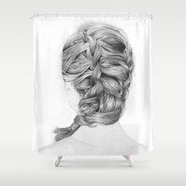 French Braid Shower Curtain