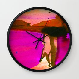 Watercolor Abstract 106B by Kathy morton Stanion Wall Clock