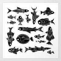 Fish Fish Fish Art Print
