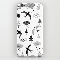 swallow iPhone & iPod Skins featuring swallow by Hui_Yuan-Chang
