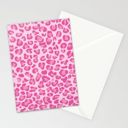 Pink Cheetah Stationery Cards