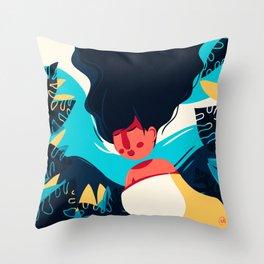 Women Dreaming Throw Pillow