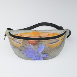 Moth and Chicory Fanny Pack