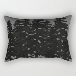 The Moon Over A Dark Dark Forest Rectangular Pillow