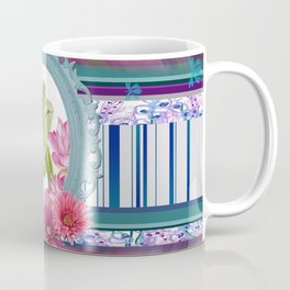Frame Green Frog Gerbera Coffee Mug