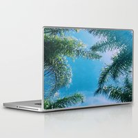 palm trees Laptop & iPad Skins featuring PALM TREES by C O R N E L L
