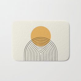 Gold Sun rainbow mountain Bath Mat