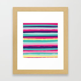 Stripe Play Framed Art Print