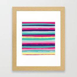 Stripe Play Framed Art Print
