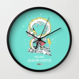 Dragon Hunter Wall Clock