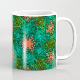 greenery and orange pattern Coffee Mug