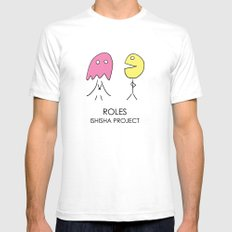 ROLES by ISHISHA PROJECT White SMALL Mens Fitted Tee
