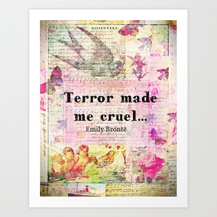 Emily Bronte Quotes | Emily Bronte Quote Art Print By Goldenslipper Society6