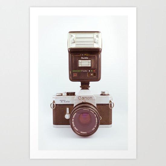Canon TLb with Starblitz Art Print