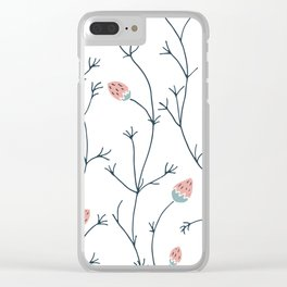 flowers growing pattern Clear iPhone Case