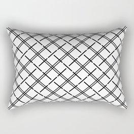 Isla - Black and White Pattern Rectangular Pillow