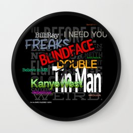 BLINDFACE HD by JC LOGAN 4 Simply Blessed Wall Clock