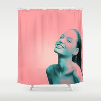 lightning Shower Curtains featuring Lightning by Grace Teaney Art