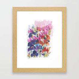 Pink Iris Splash Framed Art Print
