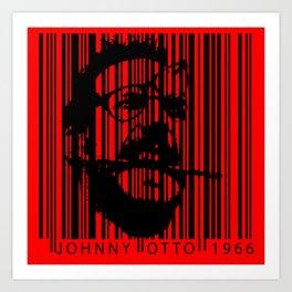 Johnny Otto Bar Code Red Art Print