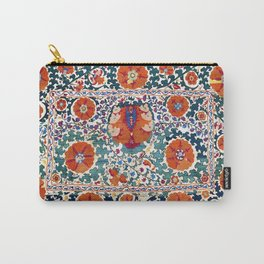 Shakhrisyabz Suzani Uzbekistan Antique Embroidery Print Carry-All Pouch