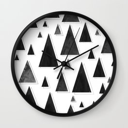 Modern Christmas Trees | Holiday Minimalism Wall Clock
