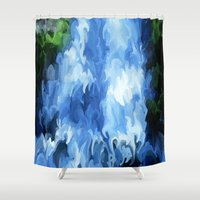 waterfall Shower Curtains featuring Waterfall by Paul Kimble