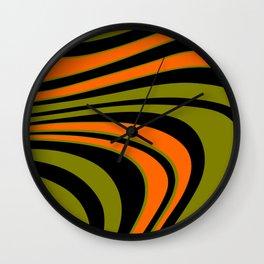 Abstract curvy Stripes Wall Clock