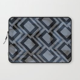 Black and White Squares Pattern 08 Laptop Sleeve