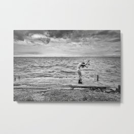 Little Human Artwork - Wind Metal Print