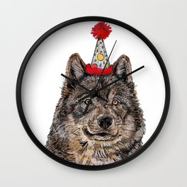 Wolf Party Wall Clock