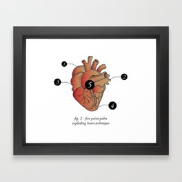 Five Point Palm Exploding Heart Technique Framed Art Print