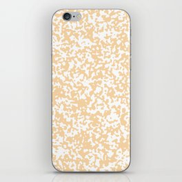 Small Spots - White and Sunset Orange iPhone Skin