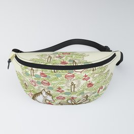 Vintage Christmas Tree Fanny Pack