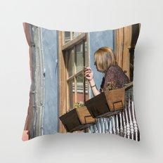 Las Palmas Balcony Throw Pillow