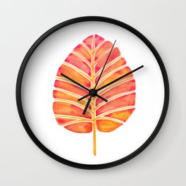 Elephant Ear Alocasia – Peach Palette Wall Clock