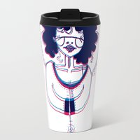 3d Travel Mugs featuring 3D by Alvina F.