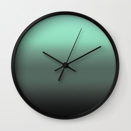 mint to black ombre Wall Clock