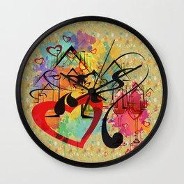 Liebe ist in der Luft - love is in the air Wall Clock