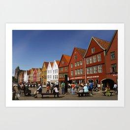 Bergen Bryggen Art Print