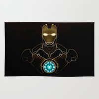 ironman Area & Throw Rugs featuring IRONMAN - IRONMAN ARC REACTOR by alexa