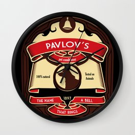 Pavlov's Conditioner Wall Clock