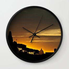 Roma, tramonto | Rome, sunset Wall Clock