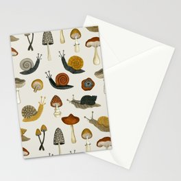 mushrooms & snails Stationery Cards