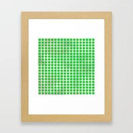 Four leaf clover pattern on texture Framed Art Print