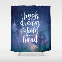Neil Gaiman Quote Shower Curtain