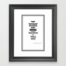 dark knight Framed Art Print
