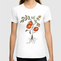 botanical T-shirts featuring Tomato Botanical by CHAR ODEN