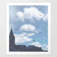 istanbul Art Prints featuring istanbul by ulas okuyucu